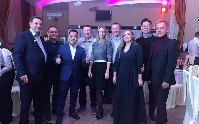 The attending of Cooperative partner's anniversary celebration party In Russia